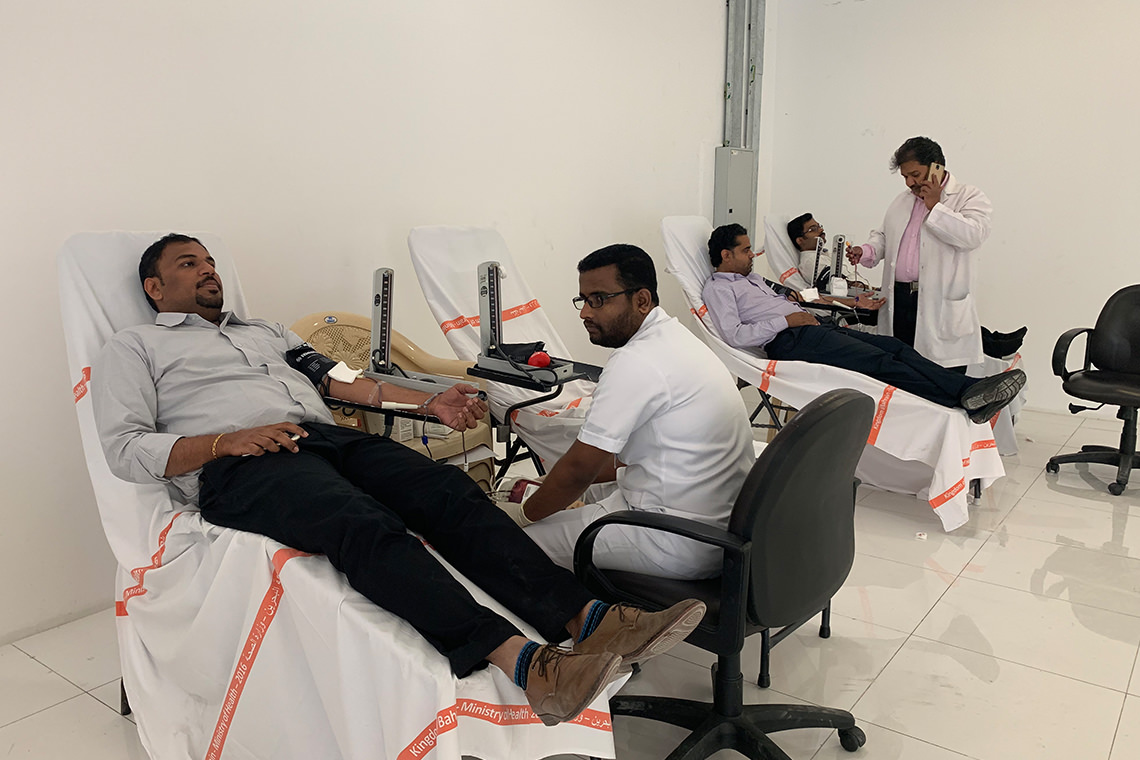 Almoayyed Contracting Group Blood Donation