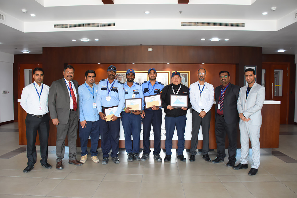 ACG awarded 4 security employees working at Tatweer